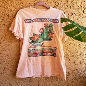 Vintage cactus western pint graphic tee